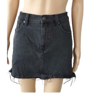 Madewell Denim Black Mini Skirt Size 32